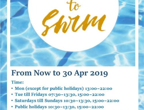 Time to Swim (From Now to 20 April 2019)